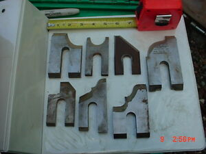 Lot 7 Moulder High Speed Knives Blades stock 10