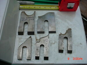 Lot 5 Moulder High Speed Knives Blades stock 12