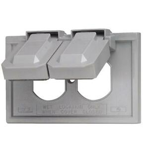 50 Pk Leviton Gray Plastic Commercial Grade Outdoor Outlet Cover 002049760gy