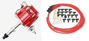 Pontiac Distributor Hei 301 455 With 8 5mm Premium Wires Red New Ready To Instal