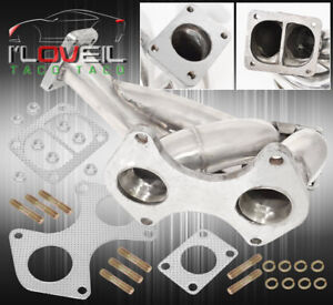 93 96 Mazda Rx7 Rx 7 Fd3s 13b T04b T4 Stainless Steel Turbo Exhaust Manifold