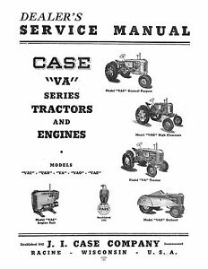 Case S Sc So Se Series Tractor And Engines Service Manual Reproduction