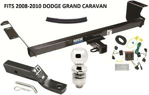 Complete Trailer Hitch Package W Wiring Kit Fits 2008 2010 Dodge Grand Caravan