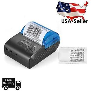 Mini 58mm Bt Wireless Thermal Bill Receipt Ticket Printer For Ios Android System