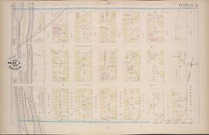 1880 G M Hopkins Oswego New York Armory 48th Regiment Copy Plat Atlas Map