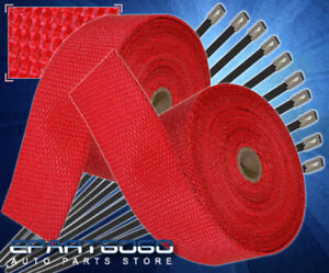 360 30ft Heat Wrap Shield Insulation Reduction Down Header Test Pipe Cat Red