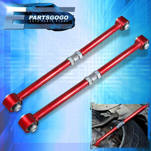 For 84 87 Toyota Corolla Ae86 Red Adjustable Rear Lateral Control Arm Bar Kit