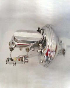 Gm A Body Chrome Booster Ball Milled Master Cylinder Pv2c Disc Drum Chevy Plus