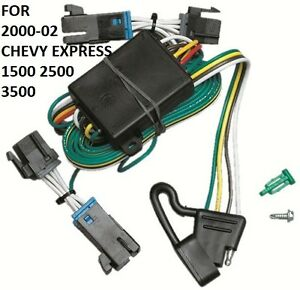 2000 02 Chevy Express 1500 2500 3500 Trailer Hitch Wiring Kit Harness Plug Play