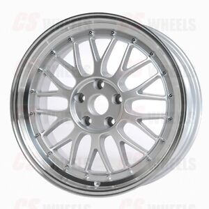 Lm Style Silver Mesh Wheels Rims Fits Mercedes