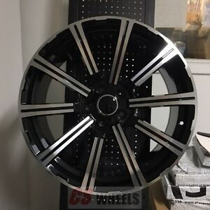 20 Presitge Style Black Wheels Rims Fits 2017 Audi Q7 5x112