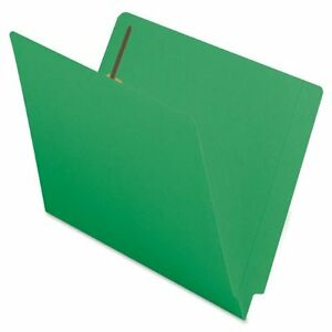 Smead 25140 Green End Tab Colored Fastener File Folders With smd25140