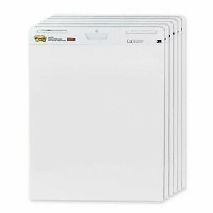 Post it Super Sticky Easel Pad 30 Sheet 25 X 30 6 Carton White Paper