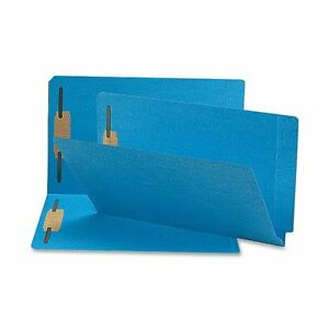 Smead 28040 Blue End Tab Colored Fastener File Folders With smd28040