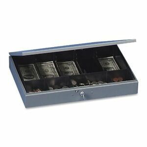Mmf Steelmaster Cash Box With Tray 5 Bill 5 Coin Steel Gray 2215cbtgy