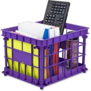Storex Storage Case Stackable Assorted Bright For File Classroom Supplies