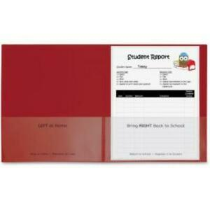 C line Classroom Connector Folders Red 25 bx 32004 Letter 8 1 2 X 11