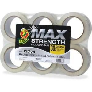 Duck Max Strength Packaging Tape 55 Yd Length 6 Pack Clear duc 241513