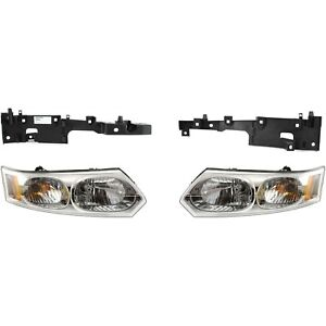 Headlight Kit For 2003 2007 Saturn Ion Left And Right 4pc Fits 2004 Saturn Ion