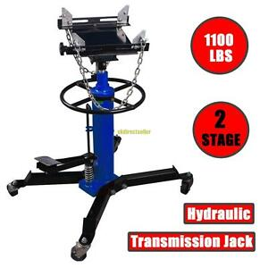 1100lbs 2 Stage Hydraulic Transmission Jack 34 70 W 360 Swivel Wheels