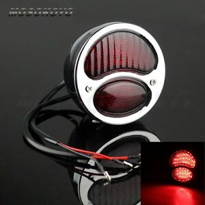 Motorcycle Led Original Style Ford Model A Duolamp Taillight Lamp Chrome