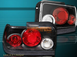 1993 1997 Toyota Corolla Jdm Black Tail Lights 2 Pcs Set 94 95 96