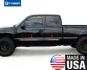 Tyger For 99 06 Chevy Silverado 4dr Extended Cab Body Side Molding Trim 1 5 4pc