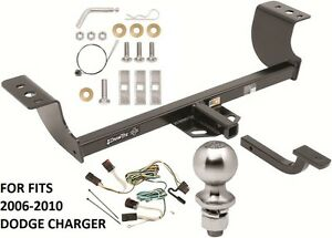 Complete Trailer Hitch Package W Wiring Kit Fits 2006 2010 Dodge Charger New