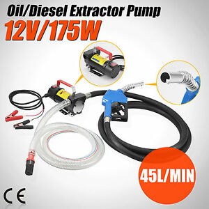 Electric 12v Dc Fuel Transfer Pump Diesel Kerosene Oil Commercial Auto Portable
