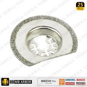MB25O 63mm Diamond Semi-Round Electroplated Blades 25Pack Fits Fein Multimaster