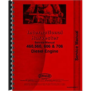 New International Harvester 656 Tractor Engine Service Manual 1965 1973