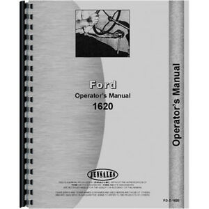 Operators Manual For Ford 1620 Tractor compact 2 And 4 Wheel Drive