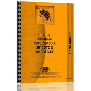 New Long 2610 Tractor Parts Manual