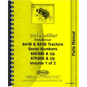 Parts Manual For Caterpillar 641b Tractor