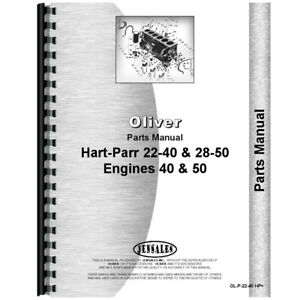 New Oliver hart Parr 50 Tractor Parts Manual