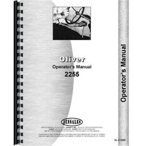 New Oliver 2255 Tractor Operators Manual
