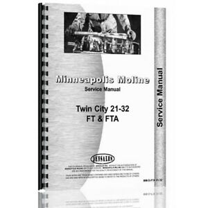 New Minneapolis Moline 21 32 Tractor Service Manual