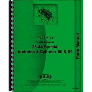 Oliver 28 44 Tractor Parts Manual