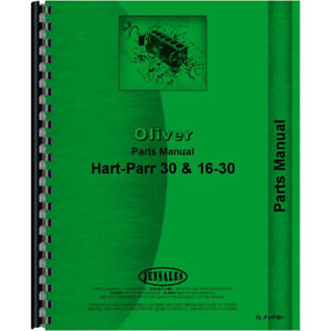 New Oliver hart Parr 30 Tractor Parts Manual