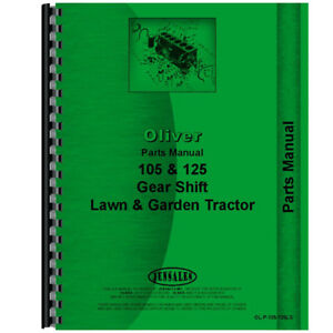 Oliver 125 Lawn Garden Tractor Parts Manual