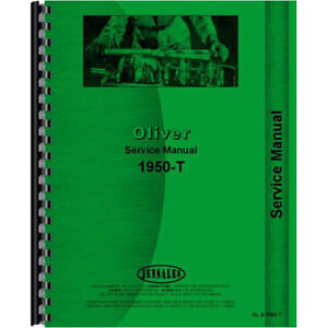 New Oliver 1950 t Tractor Service Manual