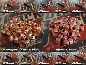 M8 X 1 25mm German Made High Temp Header Manifold Turbo Stud Kit W Copper Nuts