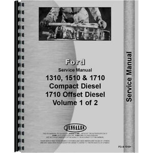 Service Shop Manual For Ford 1510 Compact Tractor