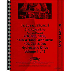 New International Harvester 966 Tractor Chassis Service Manual
