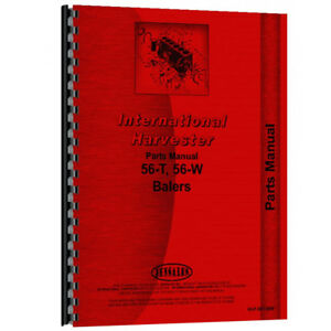 New International Harvester 56 t Tractor Parts Manual