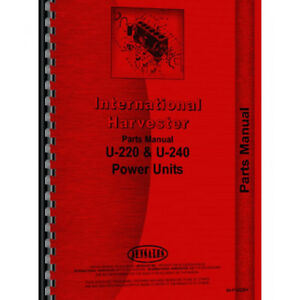New International Harvester U240 Tractor Parts Manual