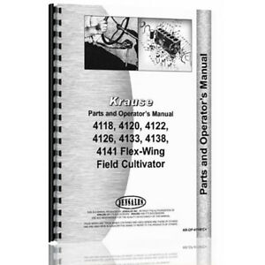 New Krause Cultivator Operator Tractor Parts Manual kr op 4118fc