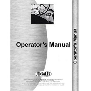 New Tractor Operator Manual For International Harvester Cub Cadet 582 Tractor