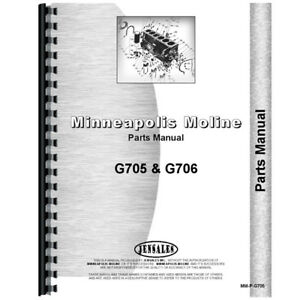 New Minneapolis Moline G705 Tractor Parts Manual
