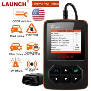 Launch Creader V Obd2 Car Code Reader Scanner I M Readiness Engine Light Check